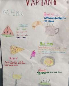 Mary's menu